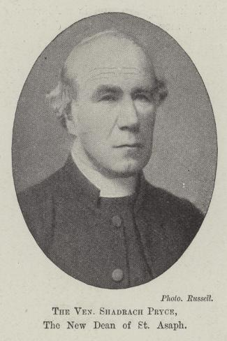 The Venerable Shadrach Pryce, the New Dean of St Asaph--Stretched Canvas Print