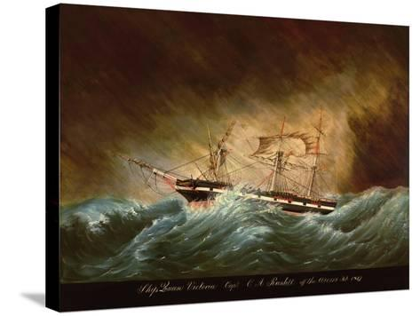 Queen Victoria, Off Azores--Stretched Canvas Print