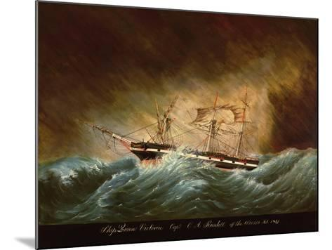 Queen Victoria, Off Azores--Mounted Giclee Print