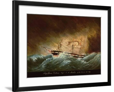 Queen Victoria, Off Azores--Framed Art Print