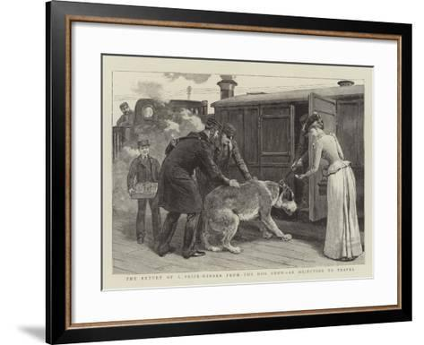 The Return of a Prize-Winner from the Dog Show, an Objection to Travel--Framed Art Print