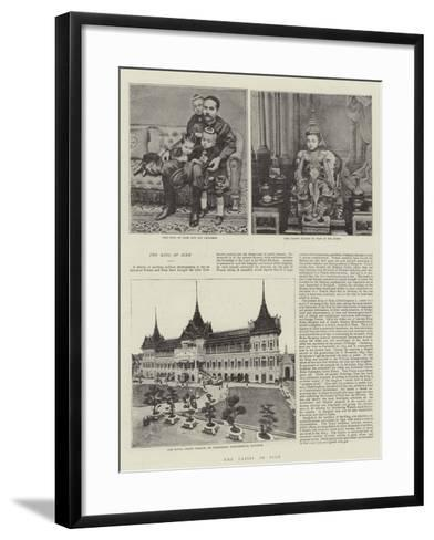 The Crisis in Siam--Framed Art Print