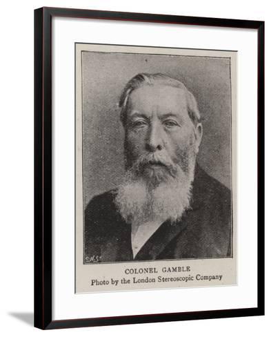 Colonel Gamble--Framed Art Print