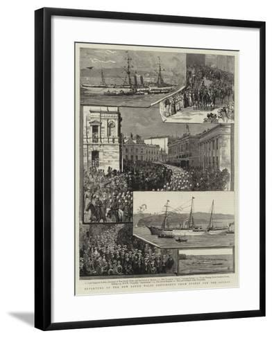Departure of the New South Wales Contingent from Sydney for the Soudan--Framed Art Print