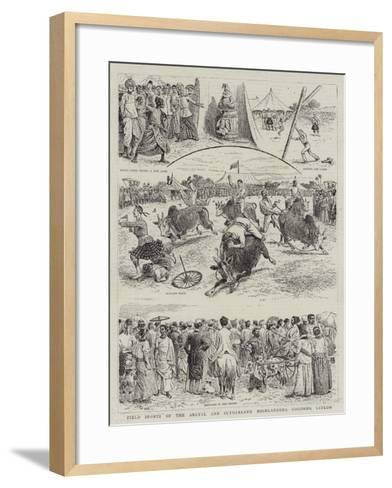 Field Sports of the Argyll and Sutherland Highlanders, Colombo, Ceylon--Framed Art Print