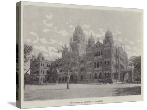 New Railway Offices at Bombay--Stretched Canvas Print