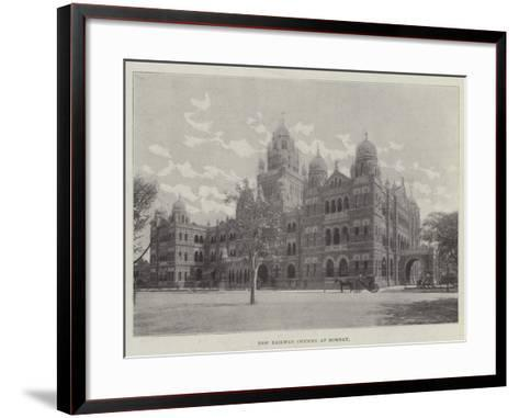 New Railway Offices at Bombay--Framed Art Print