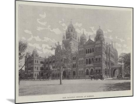 New Railway Offices at Bombay--Mounted Giclee Print