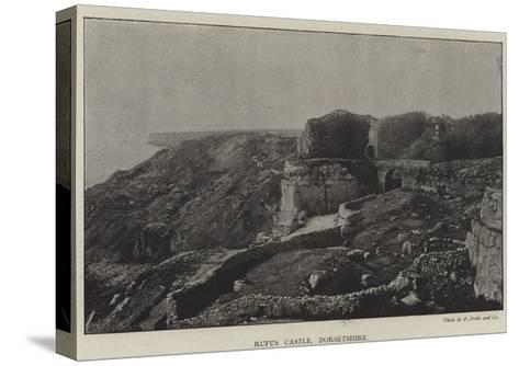 Rufus Castle, Dorsetshire--Stretched Canvas Print