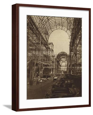 The Nave Looking North--Framed Art Print