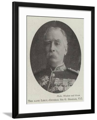 The Late Lieutenant-General Sir G Graham--Framed Art Print