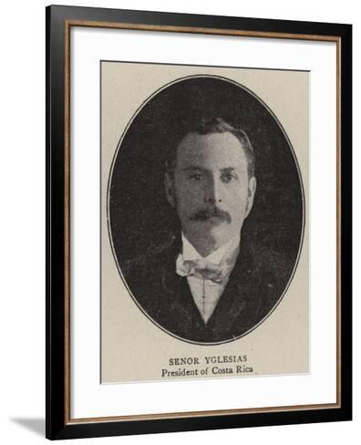 Senor Yglesias--Framed Art Print