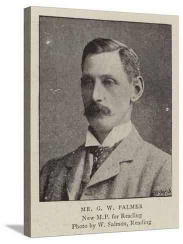 Mr G W Palmer--Stretched Canvas Print