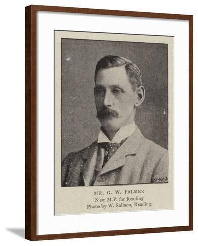 Mr G W Palmer--Framed Art Print