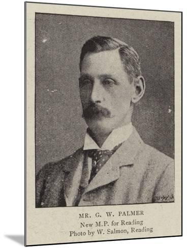 Mr G W Palmer--Mounted Giclee Print