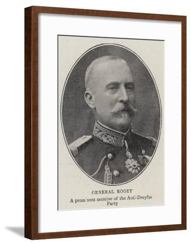 General Roget--Framed Art Print