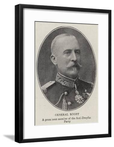 General Roget--Framed Art Print