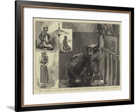 The Burmese Priests and Mr Barnum's Elephant at the Zoological Gardens--Framed Art Print