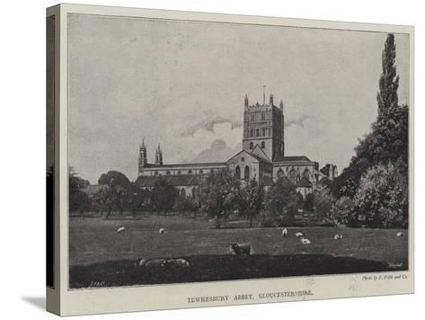 Tewkesbury Abbey, Gloucestershire--Stretched Canvas Print