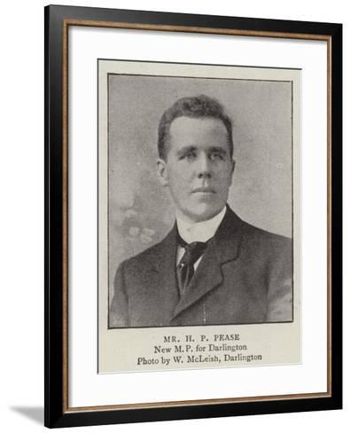 Mr H P Pease--Framed Art Print