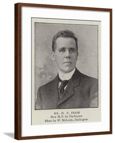 Mr H P Pease--Framed Art Print