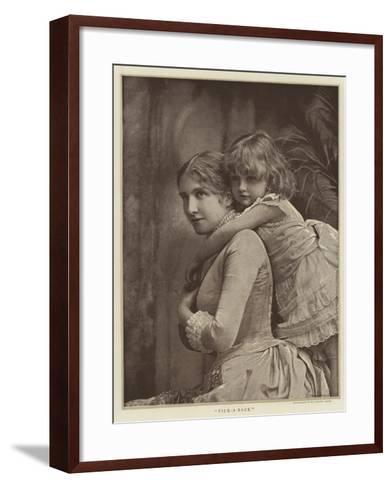 Pick-A-Back--Framed Art Print