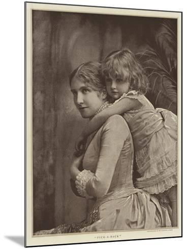 Pick-A-Back--Mounted Giclee Print