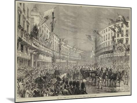 The Royal Entry into London, the Procession Passing Down Regent-Street--Mounted Giclee Print