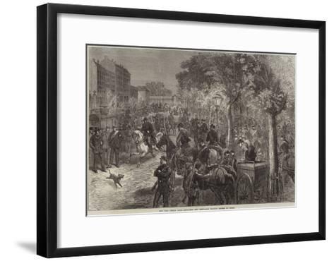 The War, Inside Paris, Artillery and Ambulance Waiting Orders to Start--Framed Art Print