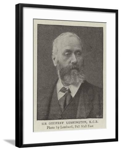Sir Godfrey Lushington--Framed Art Print