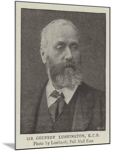 Sir Godfrey Lushington--Mounted Giclee Print