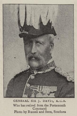 General Sir J Davis, Kcb--Stretched Canvas Print