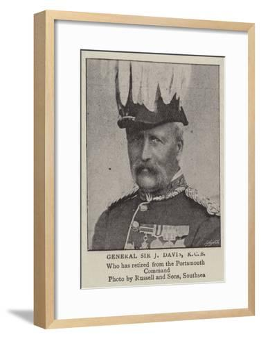 General Sir J Davis, Kcb--Framed Art Print