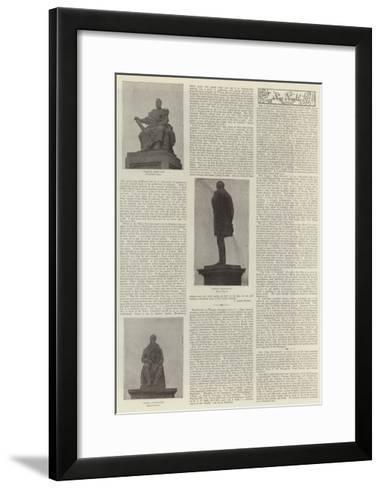 Statues at Large--Framed Art Print