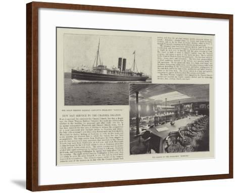 New Day Service to the Channel Islands--Framed Art Print