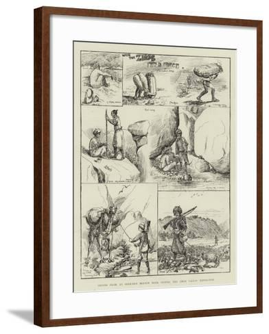 Leaves from an Officer's Sketch Book During the Zhob Valley Expedition--Framed Art Print