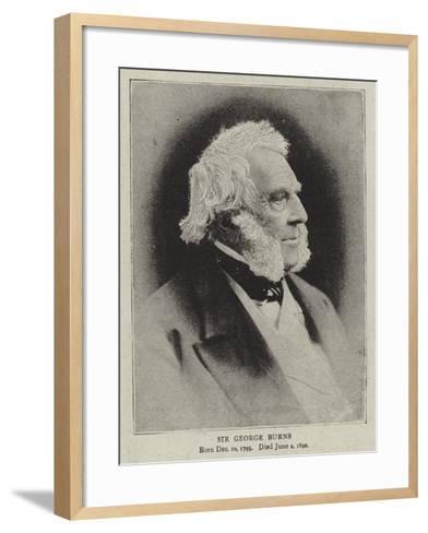 Sir George Burns--Framed Art Print