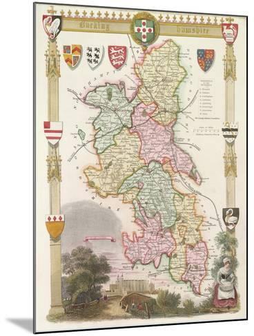 Buckinghamshire with Illustrations of Eton College Chapel--Mounted Giclee Print