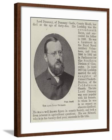 The Late Lord Dunsany--Framed Art Print