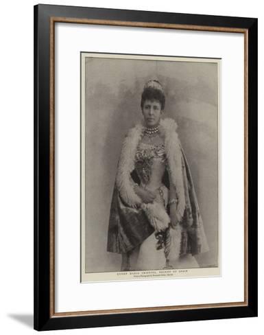 Queen Maria Cristina, Regent of Spain--Framed Art Print