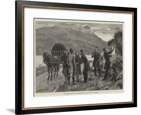 The State of Ireland, Posting the Government Proclamation in Connemara--Framed Art Print