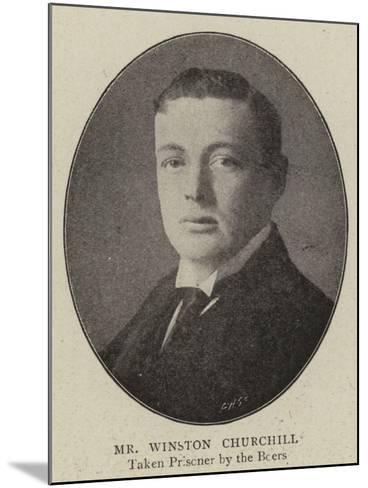 Mr Winston Churchill--Mounted Giclee Print