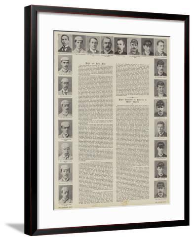 Oxford and Cambridge Boat Race, Crews--Framed Art Print