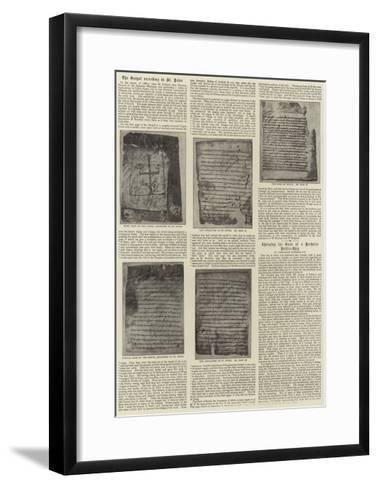 The Gospel According to St Peter--Framed Art Print