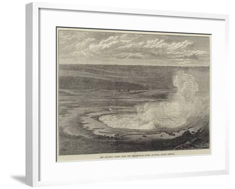 Hot Sulphur Spring Near the Yellowstone River, Montana, North America--Framed Art Print
