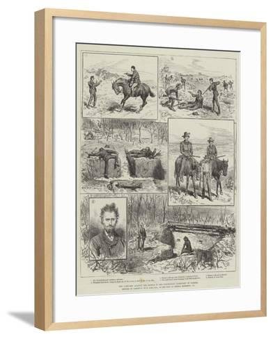 The Campaign Against the Rebels in the North-West Territory of Canada--Framed Art Print