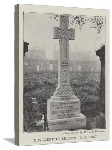 Monument to Burns's Chloris--Stretched Canvas Print