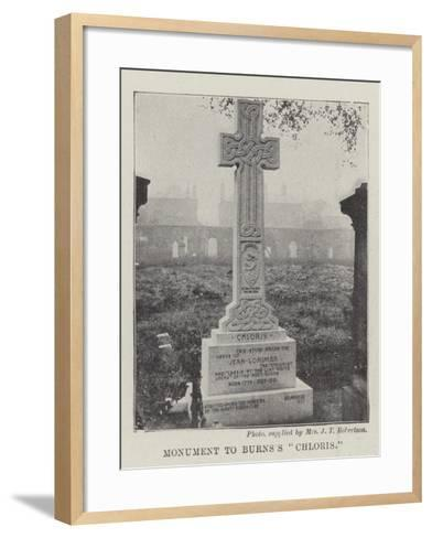 Monument to Burns's Chloris--Framed Art Print