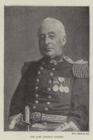 The Late Admiral Colomb--Stretched Canvas Print