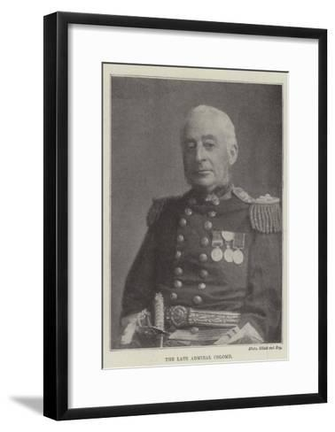 The Late Admiral Colomb--Framed Art Print